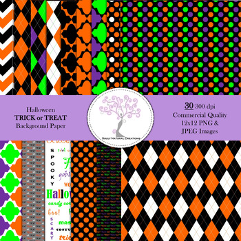 Halloween TRICK or TREAT Background Paper