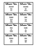 Halloween Taboo
