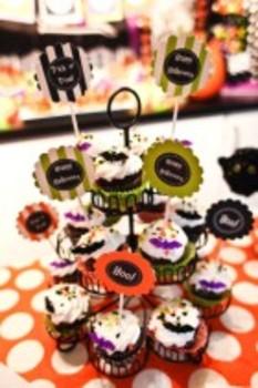 Halloween Tags Classroom Decor