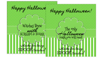 Halloween Tags: Witches Brew and Halloween Masks