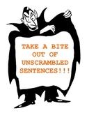 Halloween - Take a Bite Out of Unscrambled Sentences
