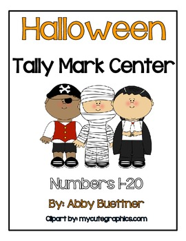 Halloween Tally Mark Center