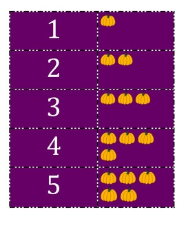 Halloween Tally, Number and Counting Memory PreK- 1st Grade