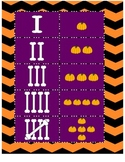 Halloween Tally and Counting Memory PreK- 1st Grade