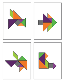 Halloween Tangrams - 26 puzzles