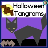 2D Shapes Center Halloween | Printable Tangram Puzzles
