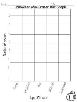 Halloween Target Mini Eraser Bar Graph Editable