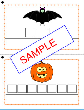 Halloween Task Box, spelling