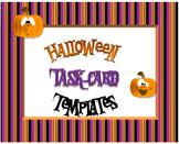 Halloween Task Card Template