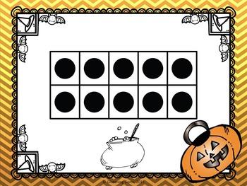 Halloween Tens Frames - Task Cards