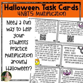 Halloween Task Cards (4.NBT.5)