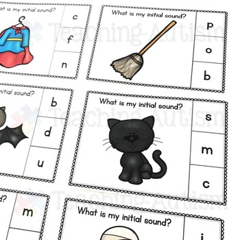 Halloween Activities - Initial Sound Task Cards