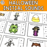 Halloween Activities Initial Sound Task Cards