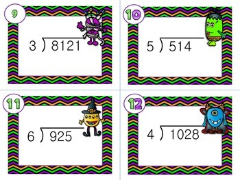 Halloween Task Cards - Long Division