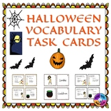Halloween Vocabulary Words Task Cards for ELLs and Mainstr