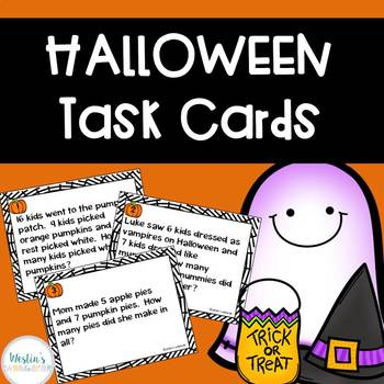 Halloween Task Cards - Word Problems