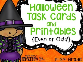 Halloween Task Cards and Printables {Even & Odd}