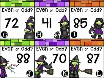 Halloween Task Cards and Printables {Even & Odd}