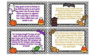 Halloween Task Cards and Response Sheet