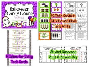 Halloween Task Cards: Math and ELA Bundle