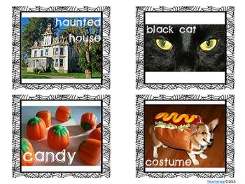 Halloween Task Cards with PHOTOS