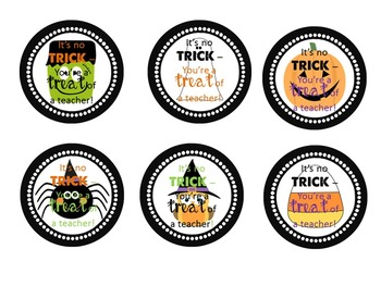 Halloween Teacher Gift Tags by Riding the Middle School Wave | TpT