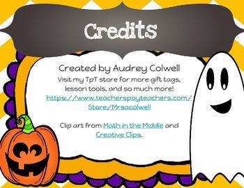 Halloween Teacher Gift Tags