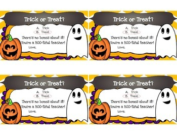 Halloween Teacher Gift Tags