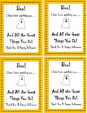 Halloween Teacher Thank You Printable