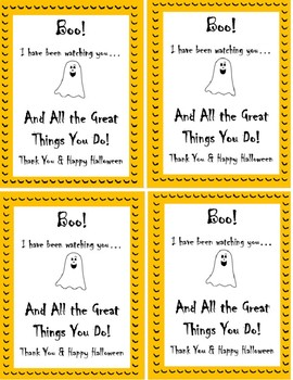 photograph relating to Teacher Thank You Printable identify Halloween Trainer Thank By yourself Printable
