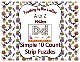 Halloween ~ Teaching by the Letter Holiday Strip Number Puzzles