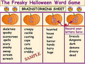 Halloween Party Team Games~ Language Arts Fun