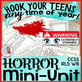Horror Mini-Unit Lessons ELA Reading & Narrative Writing - Great for Halloween