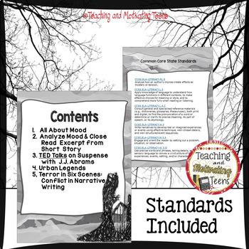 Horror Mini Lessons ELA Reading & Creative Writing