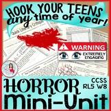 Horror Mini Lessons | ELA Reading & Creative Writing