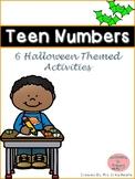 Halloween Teen Number Activities