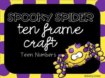 Halloween Teen Number Craft