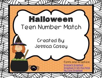 Halloween Teen Number Match