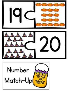 Halloween Teen Number Puzzles