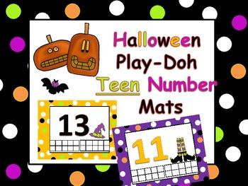 Halloween Teen Numbers Play-doh Mats