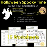Halloween Telling Time To the Hour and Half Hour and Time