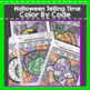 Halloween Telling Time Color by Number Code