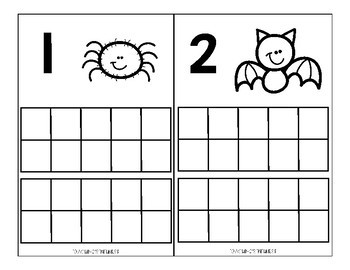 Halloween Ten Frame Activity