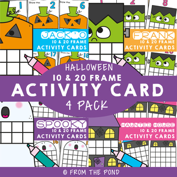 Halloween Ten Frame Activity Cards