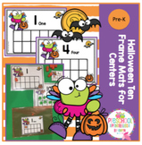 Halloween Ten Frame Cards for Centers
