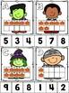 Halloween Ten Frame Clip Cards (0-10)