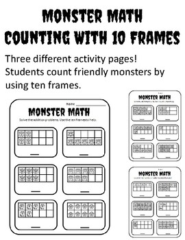 Halloween Ten Frame Counting Halloween Ten Frame Activities Kindergarten 1-10