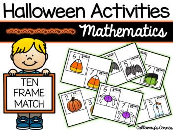 Halloween Ten Frame Match SET 2