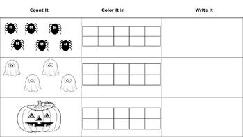 Halloween Ten Frame Math