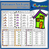 Halloween Ten Frame Math Worksheets